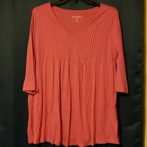Pink tunic top